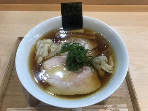 らぁ麺飯田商店わんたん入り醤油らぁ麺