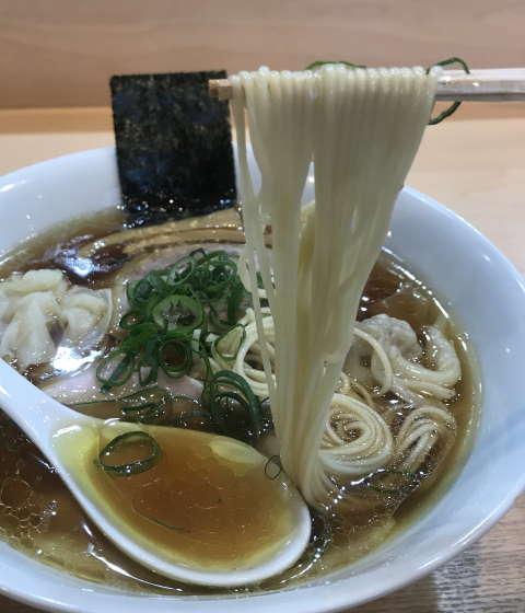 らぁ麺飯田商店麺上げ