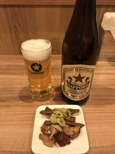 麺処ほん田秋葉原本店サッポロラガービール