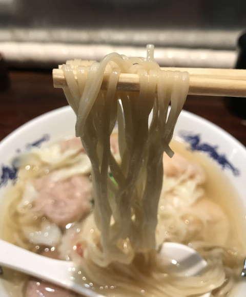中華蕎麦にし乃中華そば麺上げ