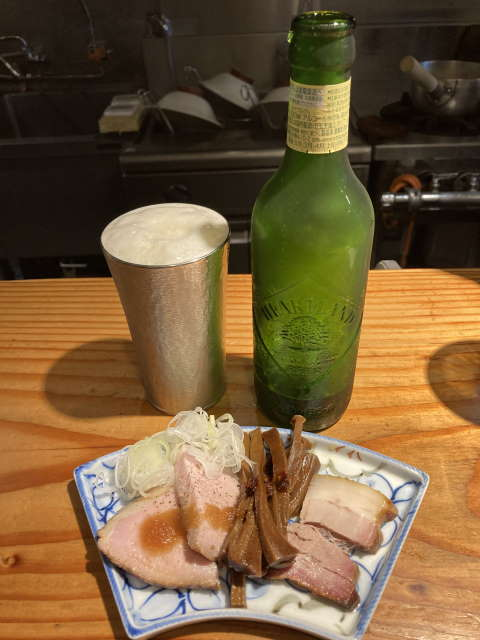 麺処篠はらビールとおつまみ