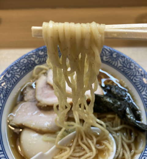 中華そば多賀野麺上げ