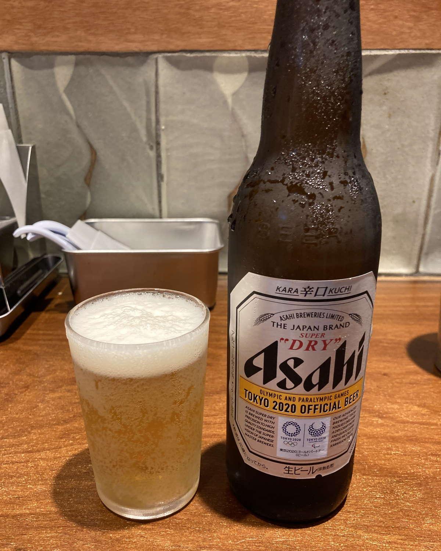 雷東京本丸店スーパードライ小瓶