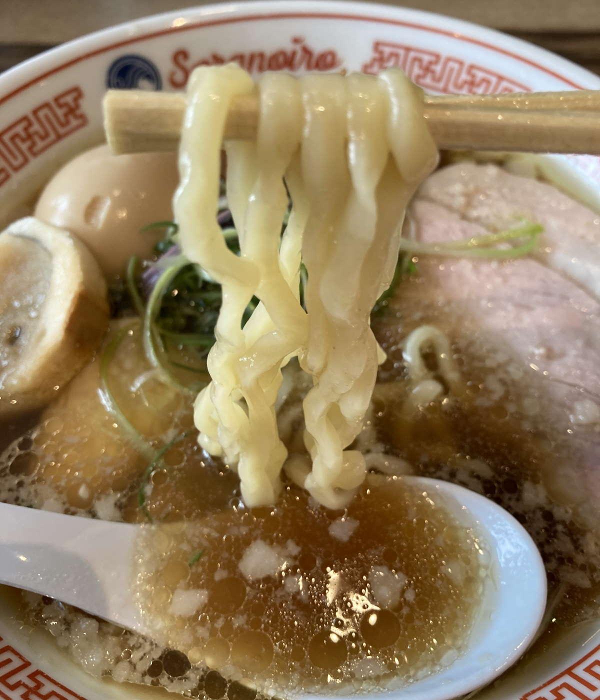 SORANOIRO本店麺上げ