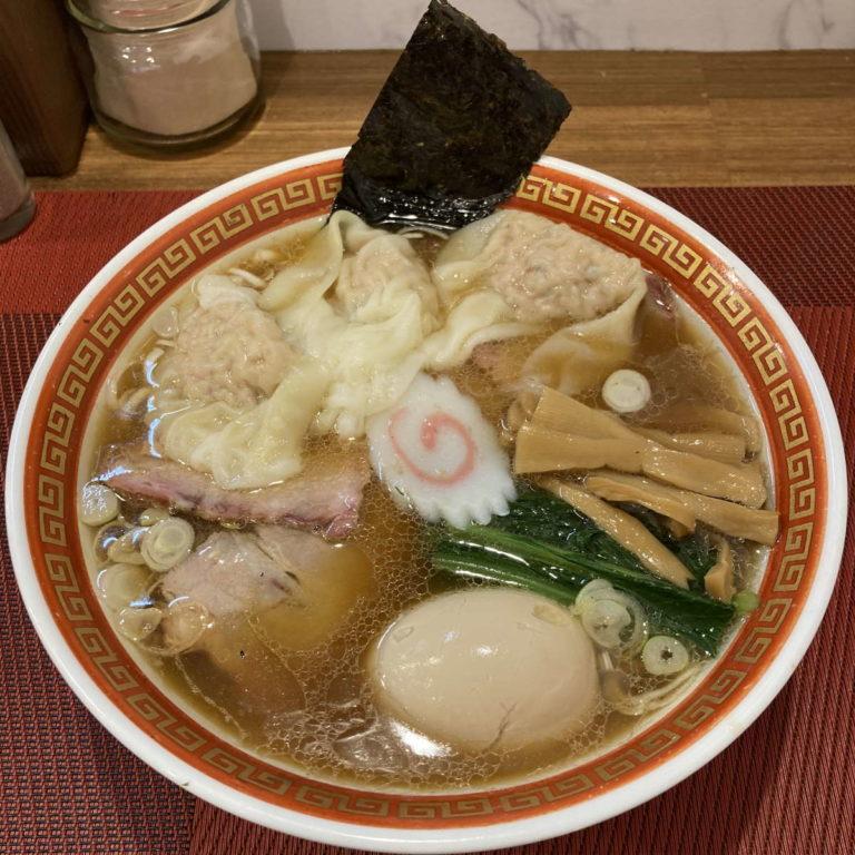 麺創庵砂田ワンタン麺チャーシュー味玉