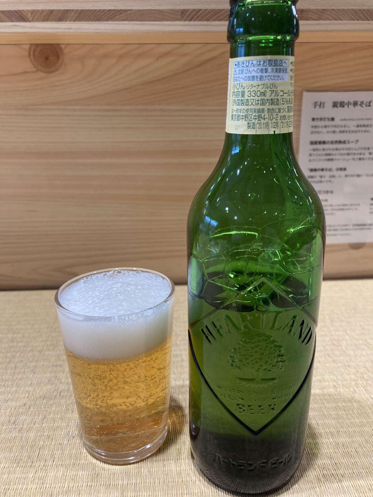 手打親鶏中華そば綾川ビール
