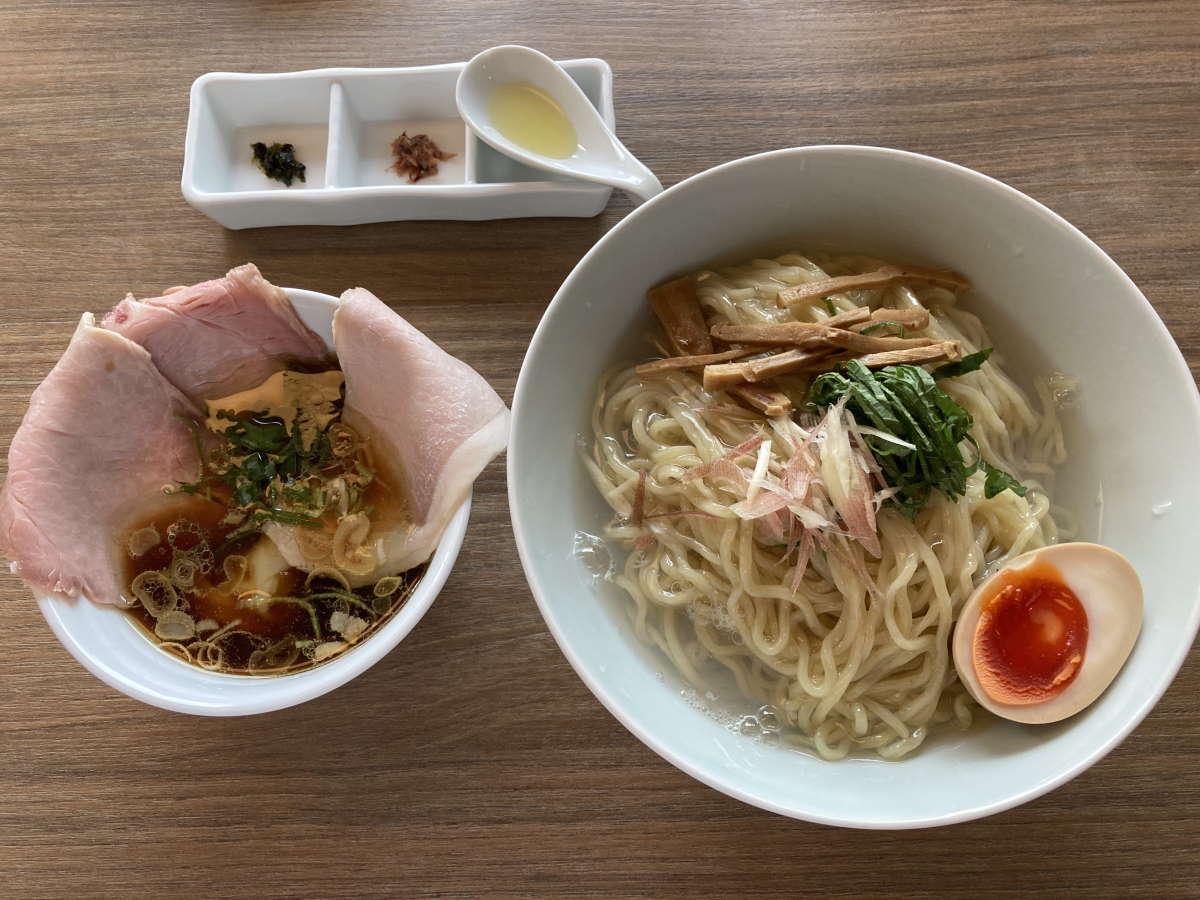 中華そば和渦TOKYO特製しじみ昆布水つけ麺大盛