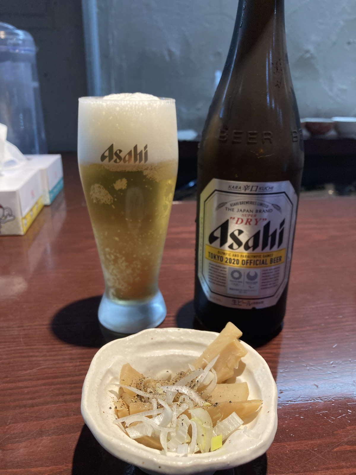 中華そばえもとビール