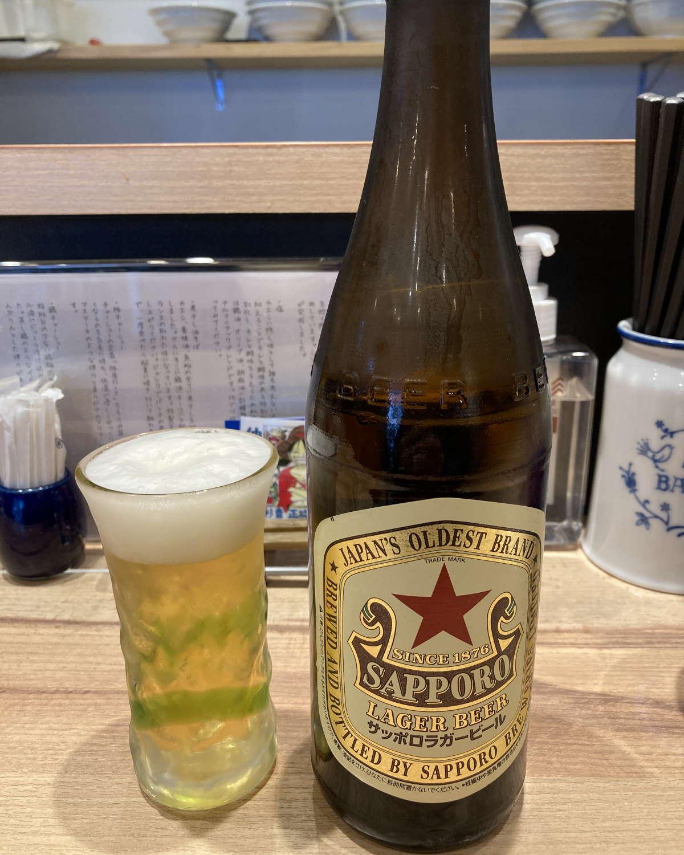 麺屋彩音ビール