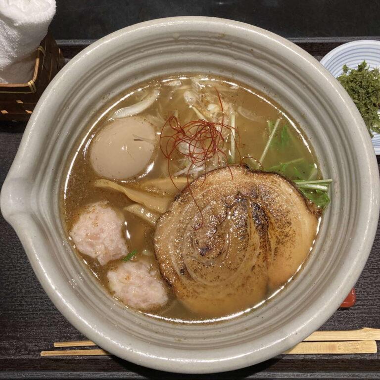 麺処銀笹白醤油ラーメン味玉半鯛飯