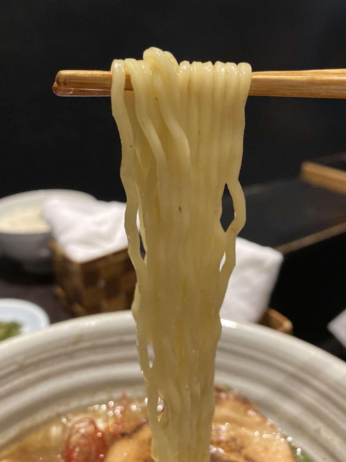 麺処銀笹麺上げ
