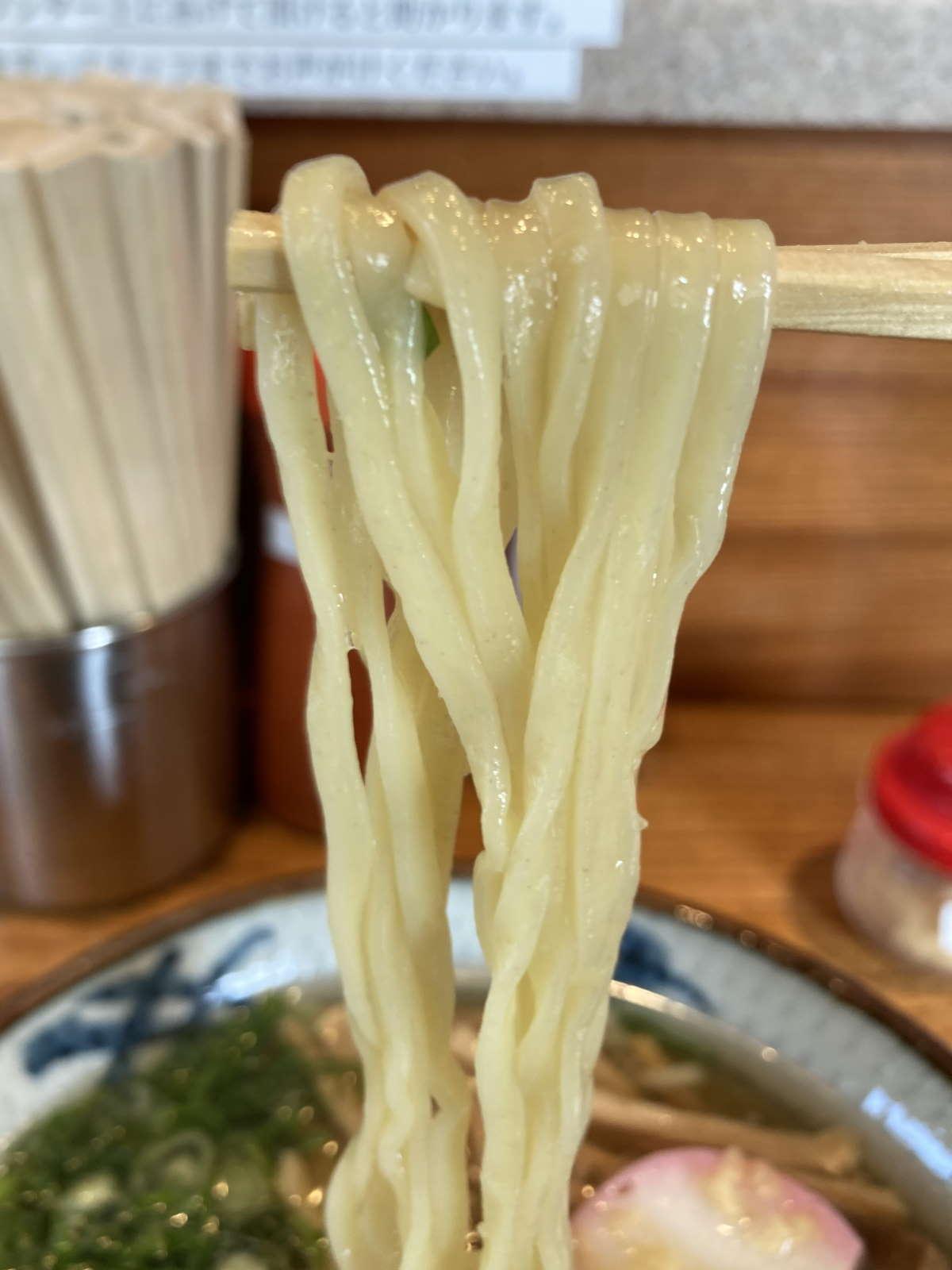 浅草生田庵麺上げ